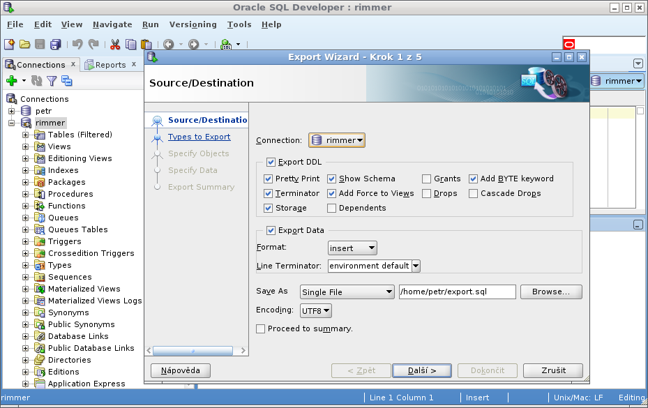 Sally postgresql vytvo en datab ze za n me - Oracle sql developer copy table ...